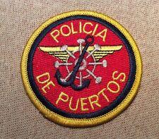 Pr Policia De Puertos Police Patch (2.75In)