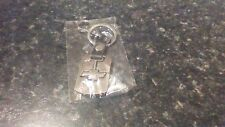 CHEVROLET portachiavi in metallo color argento con clip cintura