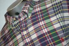 11352-a Mens Polo Ralph Lauren Dress Shirt Size 2XL BIG Blue Plaids
