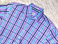 Peter Millar plaid dress shirt medium button down purple