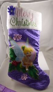 Disney Tinkerbell Merry flowers purple  Christmas Stocking