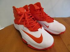 Nike 603351-181 Zoom Code Elite 3/4 Destroyer Football Cleats Orange White Sz 14
