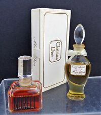 "VINTAGE LOT OF 2 PERFUMES CHRISTIAN DIOR ""MISS DIOR"" AND ""NORELL"" 1/4 FL OZ"