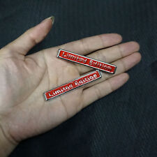 2PCS LIMITED EDITION Silver Red Metal Sticker Emblem Badge Utility quattro Sport