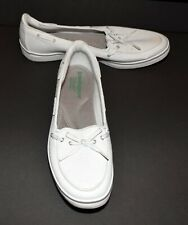 Grasshoppers Ortholite White Canvas Womens Cushion Comfort Boat Shoes Size 9.5N