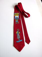 CARTOON GOOFY'S NUOVA NEW 100% SETA  SILK ORIGINALE MADE IN ITALY