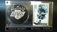 Wayne Gretzky Autograph hand signed Official NHL Puck, L.A. Kings card