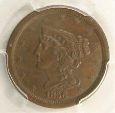 1856 Braided Hair 1/2c PCGS AU53 123H
