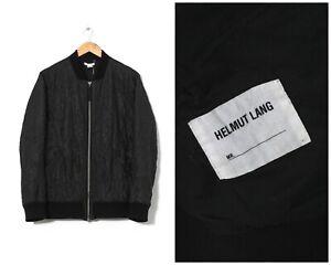 Mens HELMUT LANG Bomber Jacket Quilted Black Size M