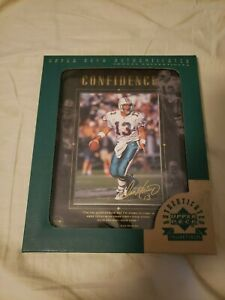 """Dan Marino 1997 Upper Deck Authenticated Framed Perseverance Blowup """"CONFIDENCE"""""""