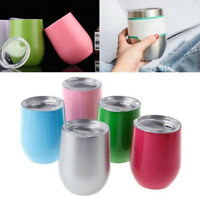 6 Color 10oz Stainless Steel Thermal Cup Insulated Mug Egg-shape Cups Drink Gift