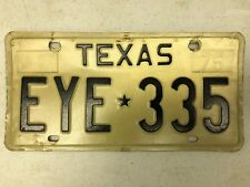 Expired TEXAS License Plate EYE-335 Eyeball Optometrist