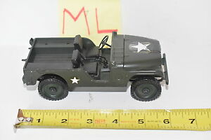 MATTEL MEBE TOYS MILITARY JEEP WILLYS MADE IN ITALY SCALE 1/25 - LOOSE W+
