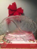 Relish Dish Snack Plate NIB Mikasa Holiday Bells Christmas Table Divided Dish