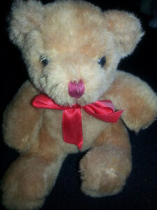 "Teddy Bear - 5 1/2"" in length, brown, cute, fast handle, unisex, age 3+, toy"