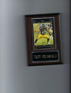 TROY POLAMALU PLAQUE PITTSBURGH STEELERS FOOTBALL NFL   C