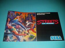 Notice seule STREETS OF RAGE Mega Drive PAL Megadrive NEW OLD STOCK