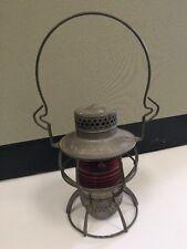 Vintage WAB RY Dressel Railroad Lantern Red WABASH #2157081 Arlington NJ