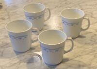 Corning ware Morning Blue Flower Milk Glass Coffee Tea Mug Cup EUC