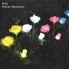 2Pack Solar Power Rose Flower Garden Stake Landscape Lights Outdoor Yard Lamp US