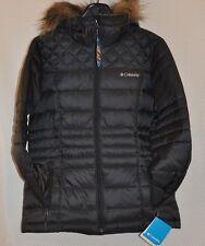 Womens Ski Black COLUMBIA Prestine Powder Puffer Jacket Coat sz S