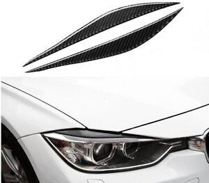BMW Real Carbon Fibre Headlight Trim Eyelids for M3 F30 F34 3GT 320i 325i New