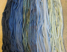 "#6 ""GOT THE BLUES""  200 Wool Strips for Primitive Rug Hooking"