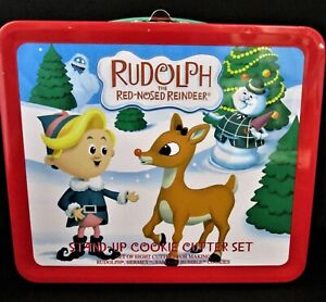 Rudolph The Red Nosed Reindeer - Stand Up Cookie Cutter Set Lunch Box 100% MINT!