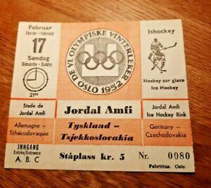Winter Olympics Oslo 1952 Ticket Germany-Tjekkia