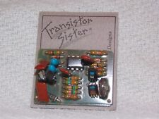 New Old Stock Vintage Transistor Sister Designs Electrical Board Colorful Brooch