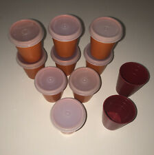 New listing Tupperware Vintage Midget Mini Containers # 101 Orange Set of 9 w Tops & 2 Extra
