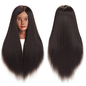 28 Hairdresser Training Head Human Hair Mannequin 100% Real Natural Extensions