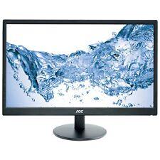 """AOC  24"""" (1920x1080) DVI VGA Slim LED Monitor 1080p Widescreen, E2470SWD, Black"""