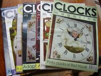 JOB LOT X 7 CLOCKS CLOCK HOROGICAL  MAGAZINES 2009 JAN FEB MAY JUNE AUG OCT NOV