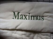 "Pottery Barn Cream Channel Quilted Christmas Stocking ""Maximus"" New!"