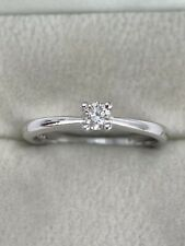 18ct White Gold Diamond Solitaire Ring VVS Very Sparkly Quality Ring Ex Cond