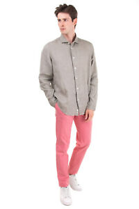 RRP €170 ELEVENTY Linen Shirt Size 44 / 17 1/2 / XL Garment Dye Made in Italy