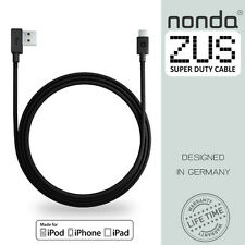 Zus Super Duty Lightning Cable 4ft/1.2m 90-degree [Apple MFi Certified] by Nonda