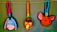 M HAPPY MEAL  (3)  DISNEY  WINNIE THE POOH  PLUSH CLIP KEY CHAIN SEE PICTURES