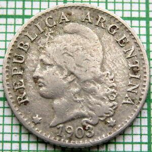 ARGENTINA 1903 5 CENTAVOS