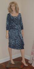 NEW PER UNA DRESS SIZE 18 BODY CON WITH STRETCH BLUE/BLACK RRP £65 BNWT