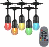 Remote Controlled Outdoor Dimmable Patio Light LED Multicolor RGBW Lights String