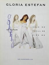 Gloria Estefan: Hold Me Thrill Me Kiss Me (piano/Vocal/Guitarra Partituras)! como Nuevo!