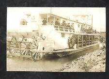 REAL PHOTO WILLISTON NORTH DAKOTA RIVERBOAT STEAMER PADDLE POSTCARD COPY ND