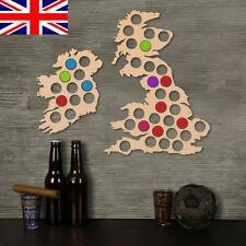 SET 2pcs 41Hole Pine Wood Beer Cap Map Bottle Cap Map& nail Collection Gift Art