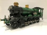 Lesser & Pavey Green Locomotive Metal Tin Steam Train Model Vintage Transport