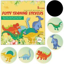 Potty Training Toilet Color Changing Magical Dinosaur Stickers I Pack of 5