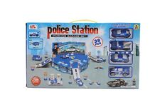 Kids Toy Police Station Set With Emergency Response Die Cast Vehicle Cars