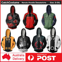 Men's Hoodie 3D Printed Anime Naruto Cosplay Costume Coat Pullovers Sweatshirts