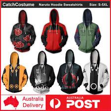 Men's Hoodie 3D Printed Anime Naruto Cosplay Costume Coat Pullovers Sweatshirts
